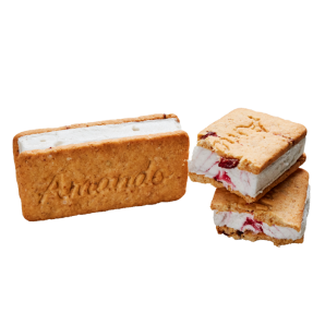 Amando Icecream Sandwich with Red Fruits