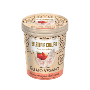Callipo Vegan Ice Cream with Strawberry Sauce