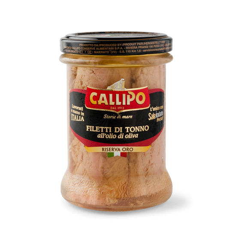 "Callipo ""Oro"" Tuna Fillets with Olive Oil in Jars"