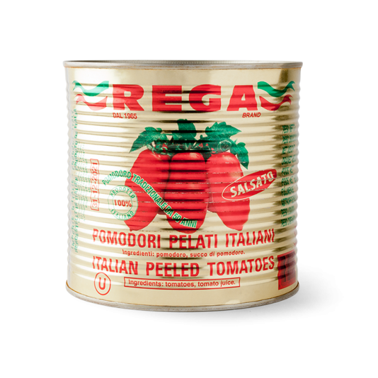 Rega Italian Peeled Tomatoes Gold Tin